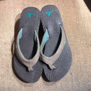 Sanuk Yoga Mat Thong Flip Flops Sandals Shoes